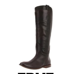 Frye Dark Brown Paige Riding Boot - Size 7…